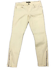 Genetic Denim The James Zip Ankle Jeans Stretch Low Rise Yellow Womens Size 31 $14.97