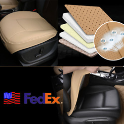 US Stock SUV Car Front Seat Cover Cushion Storage Pad Beige PU Leather Universal $28.73