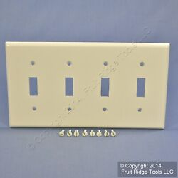 New Leviton Light Almond 4 Gang Toggle Switch Cover Wall Plate Switchplate 78012