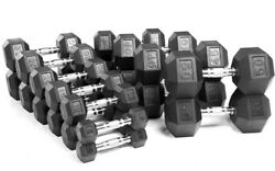 Weider or CAP Rubber Hex Dumbbells 5 10 15 20 25 30 35 or 40 lb Pairs LBS $109.88