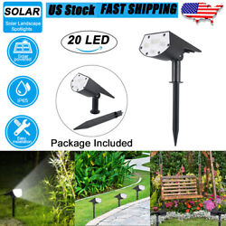 20 LED Solar Landscape Spot Light Outdoor Light Yard Garden Lamp Waterproof