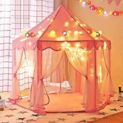 Princess Castle Play House Kids Portable Play Tent Indoor Outdoor BabyGift Pink $22.99