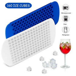 Ice Cube Maker Molds 160 Grids Mini Small Trays Silicone Bar Whiskey Cocktails $7.98