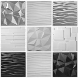 PVC Wall Panels 3D Textured Bricks 13 Packs Art Design 19.7quot;x19.7quot; Waterproof $62.53