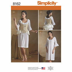 NEW SIMPLICITY 8162 OUTLANDER UNDERGARMENTS PATTERN Misses#x27; 18th Century $6.95