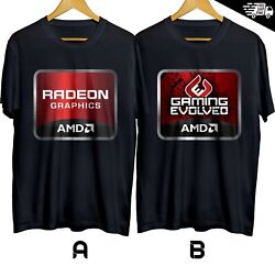 AMD Gaming Evolved High Perf. Processor T shirt Cotton 100% S 3XL Free Shipping $22.99
