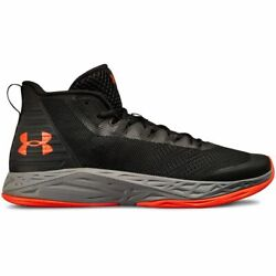 Under Armour Men#x27;s UA Jet Mid Basketball Black Grey Red Size 10 $49.50