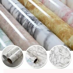 Self Adhesive PVC Marble Film Modern StickerS Waterproof Contact Paper Decor $6.39