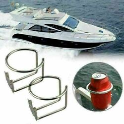 2x Stainless Steel Ring Cup Holders Bottle Drink Holder For Boat Marine Yacht RV $20.99