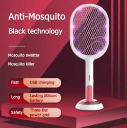 QuashPest™ 2.0 Rechargeable USB Electric Mosquito Swatter Insect Fly Handheld $38.55