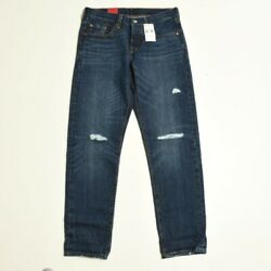New 501 Taper Levi 501 T 25x28 Womens Ripped Button Fly Jeans Medium Wash $39.95