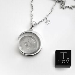 Real Moon Dust Meteorite Necklace, With a Sample from Lunar Meteorite NWA 5000 $159.95