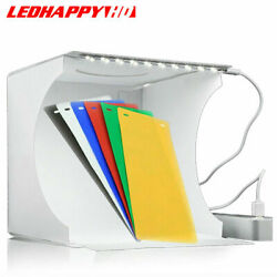 LED Light Room Photo Studio Photography Lighting Tent Kit Backdrop Cube Mini Box $14.99