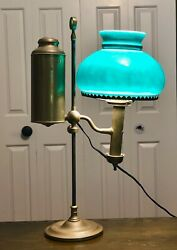 Brass Antique Student Desk Lamp $325.00