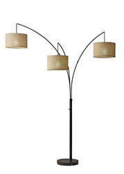 Adesso 4238 26 Trinity Arc Floor Lamp Antique Bronze FinisH Beige Burlap Lamp. $201.49