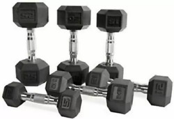 CAP Rubber Hex Dumbbells 510 15 20 25 30 35 lb Pairs Singles FAST SHIPPING $119.88