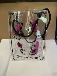 Juicy Couture Clear Plastic Tote Bag $9.95