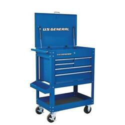 30 in. 5 Drawer Mechanic's Tool Cart Cabinet - Blue $359.99