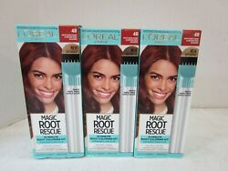 3 L#x27;OREAL ROOT RESCUE MATCHES DARK AUBURN RED SHADES 4R PERMANENT MM 18911 $19.99