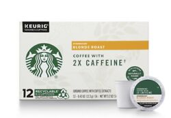 STARBUCKS BLONDE ROAST K CUP COFFEE PODS WITH 2X CAFFEINE 72 COUNT $14.99