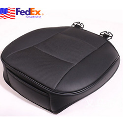 PU Leather Deluxe Car Cover Seat Protector Black Front Cushion Universal US Ship $26.00