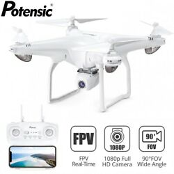 Potensic D58 Drone 5G WiFi FPV HD 1080P Camera GPS RC Quadcopter Drones White $134.99