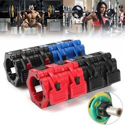US 2pcs Olympic 2'' Spinlock Collars Barbell Dumbell Clips Clamp Weight Bar Lock $10.09