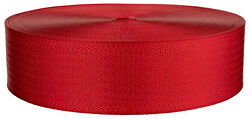 2 Inch Seat-belt Christmas Red Polyester Webbing Closeout 5 Yards $7.90