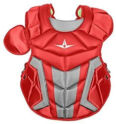 New All-Star System 7 Axis Youth 15.5 Inch Chest Protector CP1216S7X Red/Silver $114.79