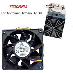 For Antminer Bitmain S7 S9 7500RPM Cooling Fan Replacement 4-pin Connector Black $9.29