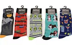 New ENRICO MILANO Mens NOVELTY SOCKS WOLFDRINKSAVOCADOS ETC.. CHOOSE PATTERN $4.99