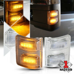 Chrome Clear Amber LED Towing Side Mirror Signal Light for 07 16 Ford Super Duty $22.86