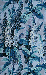 HALF YARD Westminster Kaffe Philip Jacobs Fox Gloves Blue $42.72