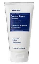 Korres Greek Yoghurt Foaming Cream Cleanser Full Size. New & Sealed