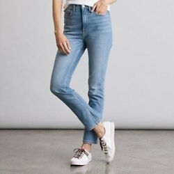 NWT Women#x27;s Elizabeth and James High Waisted Vintage Straight Jeans FAST SHIP $20.00