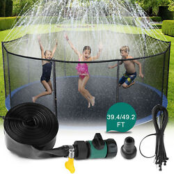 39ft 49ft Trampoline Sprinkler Kids Summer Outdoor Water Toy Fun Waterpark Spray $16.94