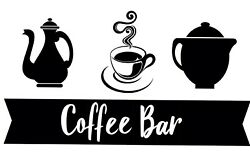 Coffe Bar Vinyl Decal For Kitchen Coffee Maker Stickers Black $13.99