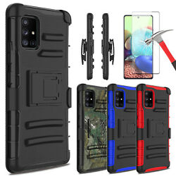 For Samsung Galaxy A71 5G Case Stand Holster Belt Clip Cover  Screen Protector $7.95