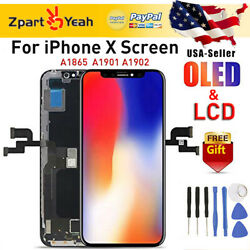 A1902 A1901 For iPhone X OLED LCD Display 3D Touch Screen Digitizer Replacement $15.99