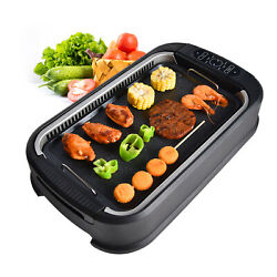 Elecwish Smokeless Grill Electric Indoor BBQ Griddle Portable Electric Indoor US $56.99