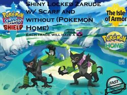 ✨Shiny Locked ✨Zarude with and without scarf Pokemon Home transfer Fast delivery $6.99