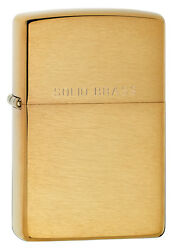 Zippo Brushed Brass Lighter WIth Solid Brass Item 204 New In Box $16.67
