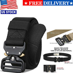 Mens Durable Tactical Belt Quick Release Buckle Rigger Nylon Web Belt Military $11.85