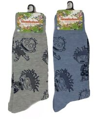 New RUGRATS Mens Novelty Crew Socks CHUCKIE amp; TOMMY CHOOSE COLOR Size 6 12 $5.99