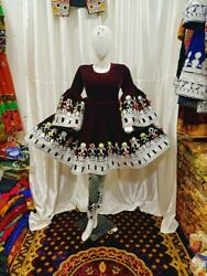 Afghan kuchi party traditional three Piece frock from Pakistan $100.00