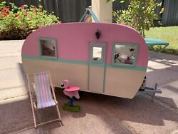Dollhouse Retro Trailer She Shed Shabby Chic