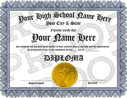 NOVELTY High School Diploma Delivered within 5 hours or its FREE BUY NOW $9.99