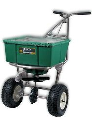 Lesco High Wheel Fertilizer Spreader with Manual Deflector Plus Cover #101186 $527.77