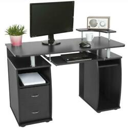 Computer Desk PC Table Workstation With Monitor & Printer Shelf Office Furniture $139.99
