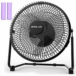 OPOLAR Battery Operated Rechargeable Desk Fan for Home Camping Hurricane 9 Inch $42.43